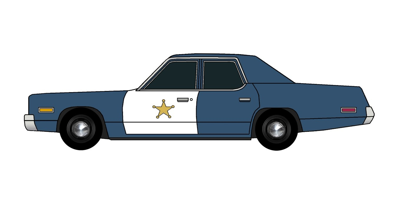 1974 Dodge Monaco Police ATLANTIC BLUE