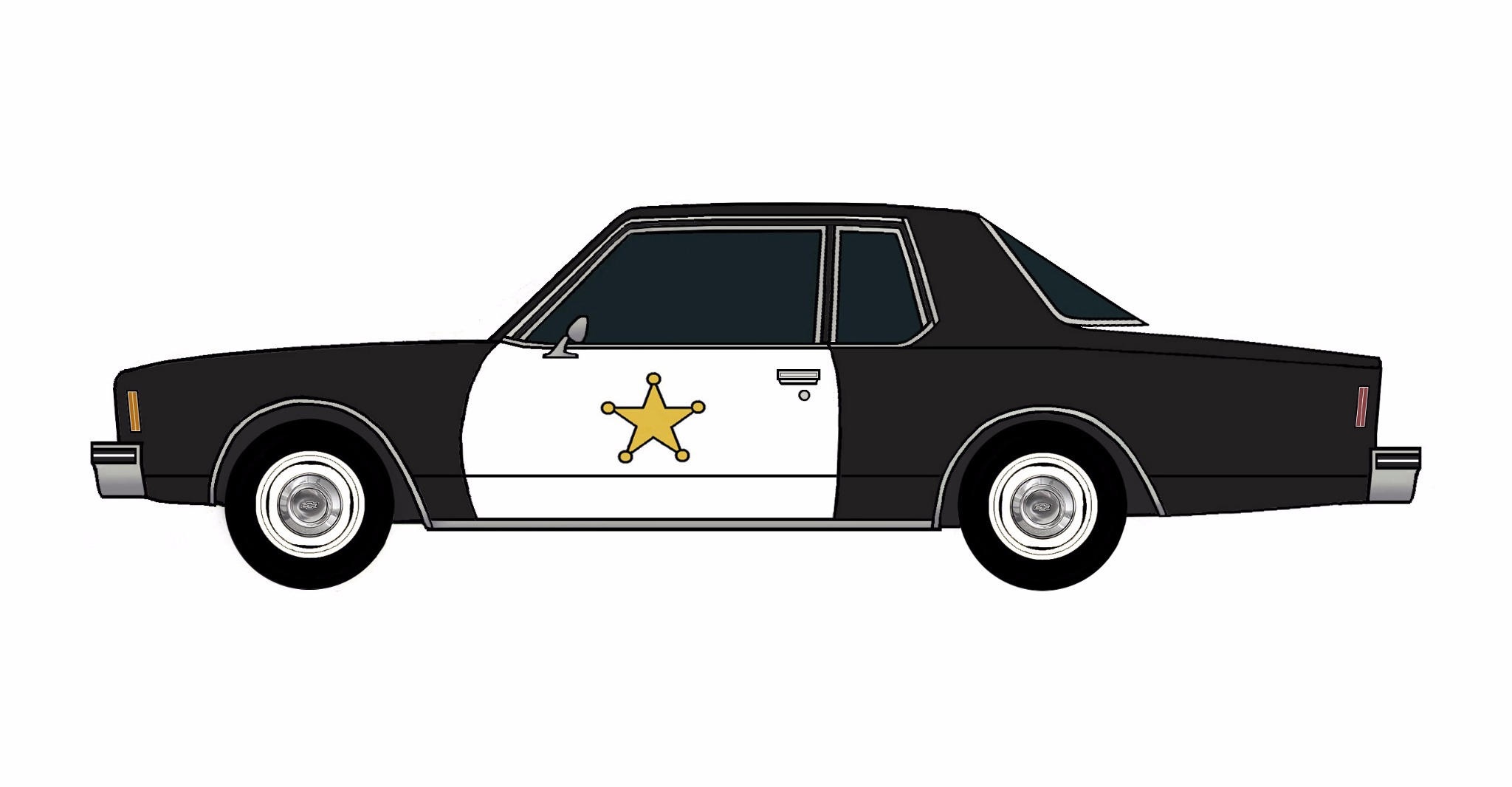 1977 Chevy Impala Police Coupe BLACK