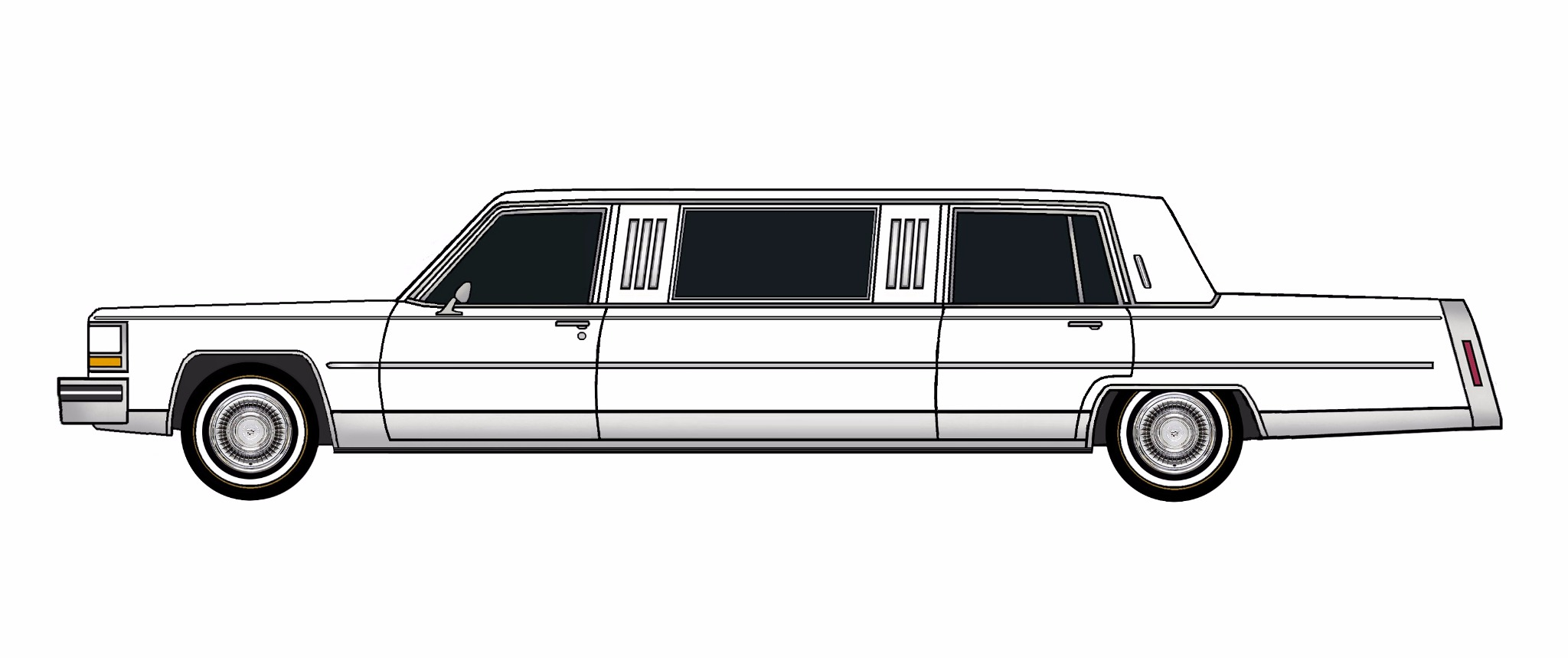 1984 Cadillac Fleetwood Brougham Limo FREE MODEL