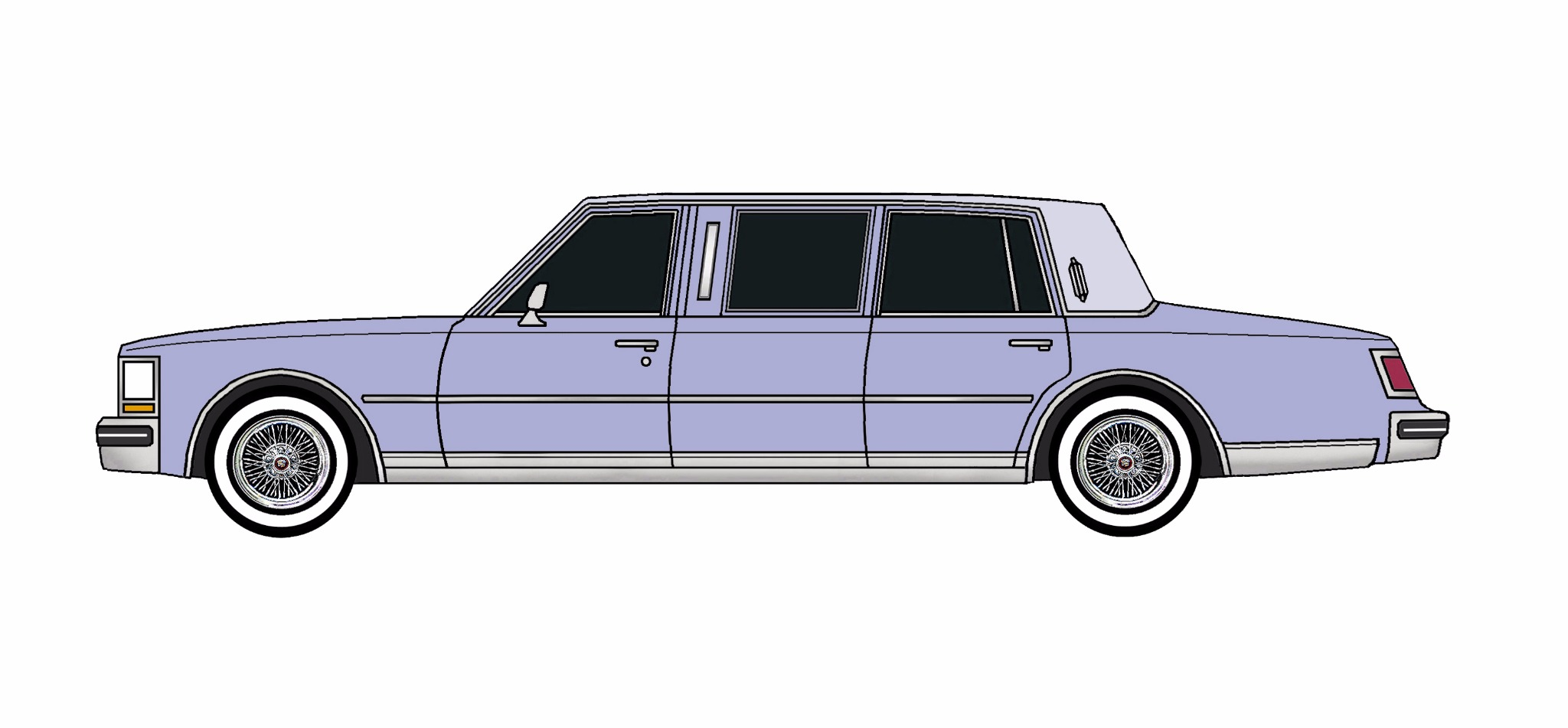 1978 Cadillac Seville Limo LILAC LAVENDER
