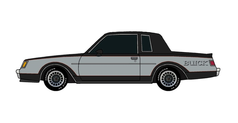 1982 Buick Grand National BLACK & CHARCOAL