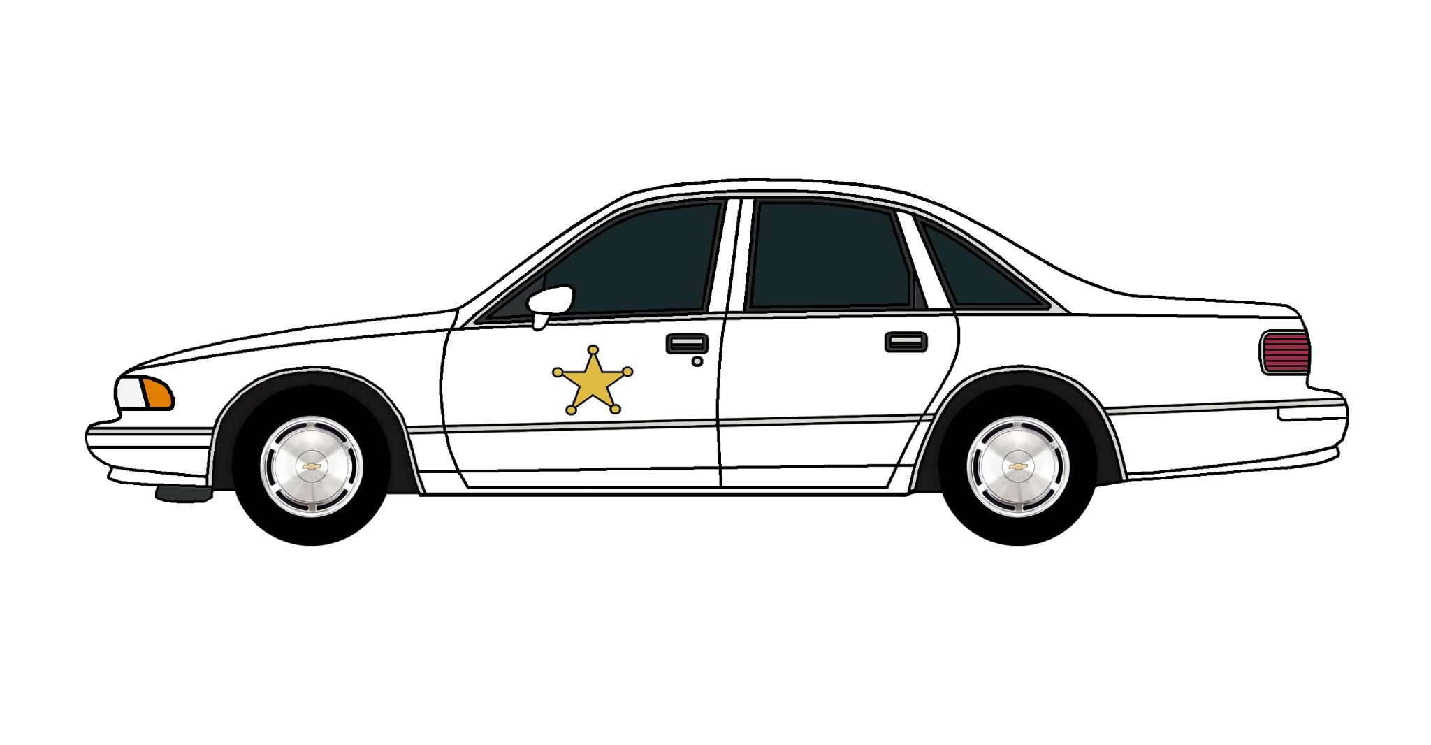 1994 Chevy Caprice Police Car WHITE