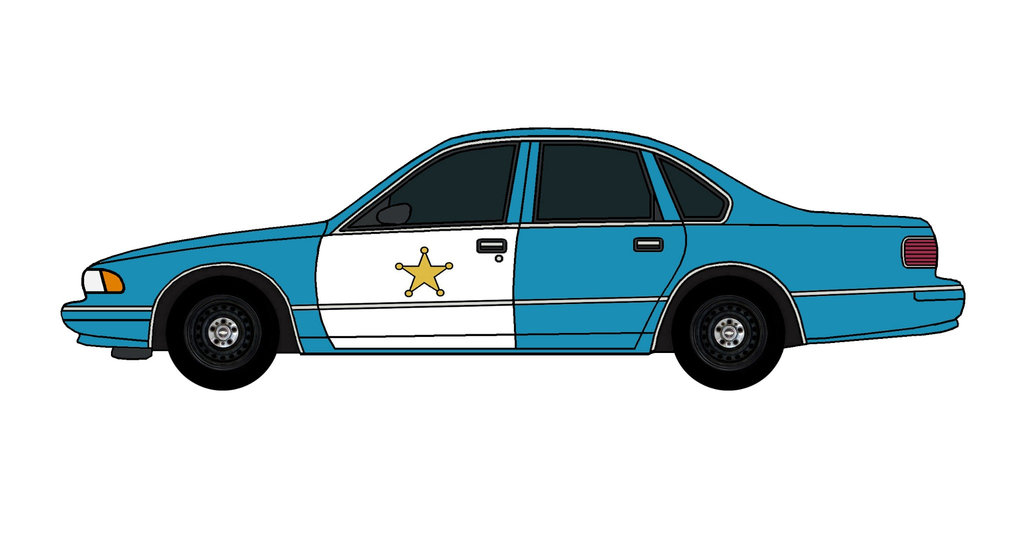 1995 Chevy Caprice Police Car SEA BLUE