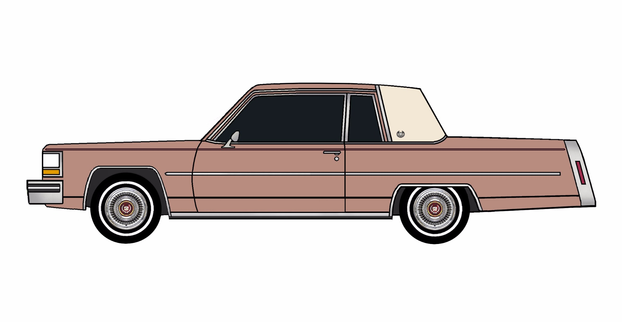1981 Cadillac Coupe Deville CLAY ROSE
