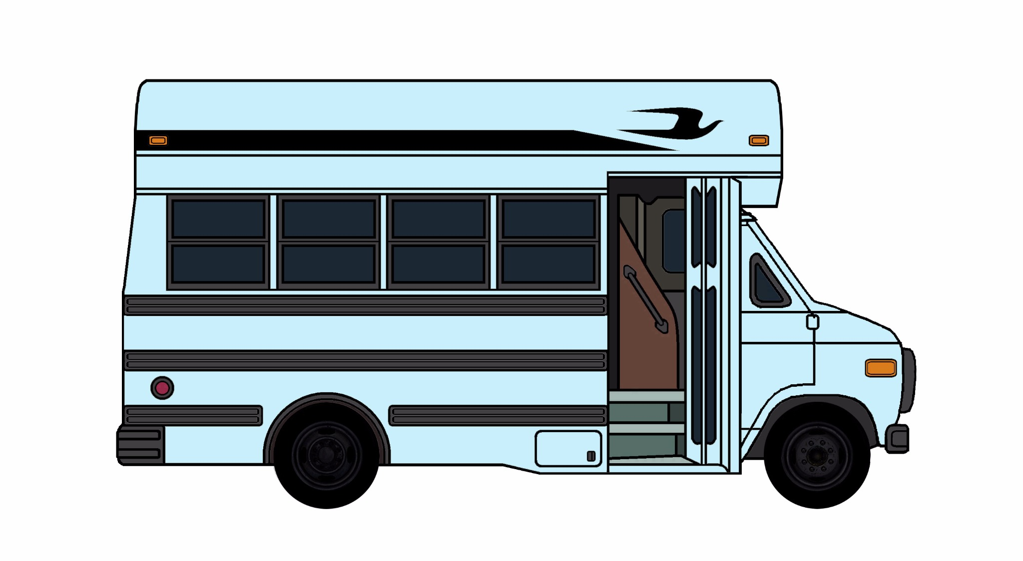 1985-96 Chevy G30 School Bus PALE BLUE