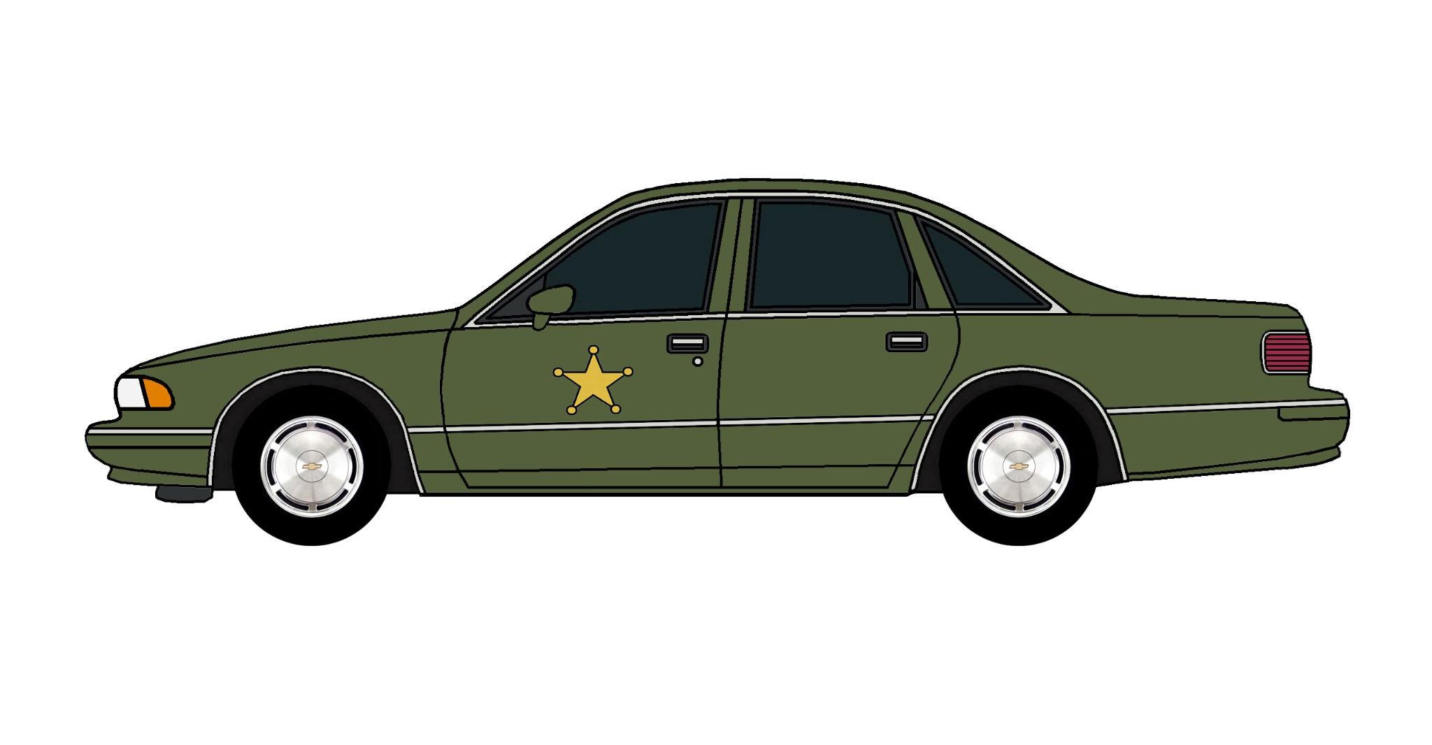 1994 Chevy Caprice Police Car ARMY GREEN