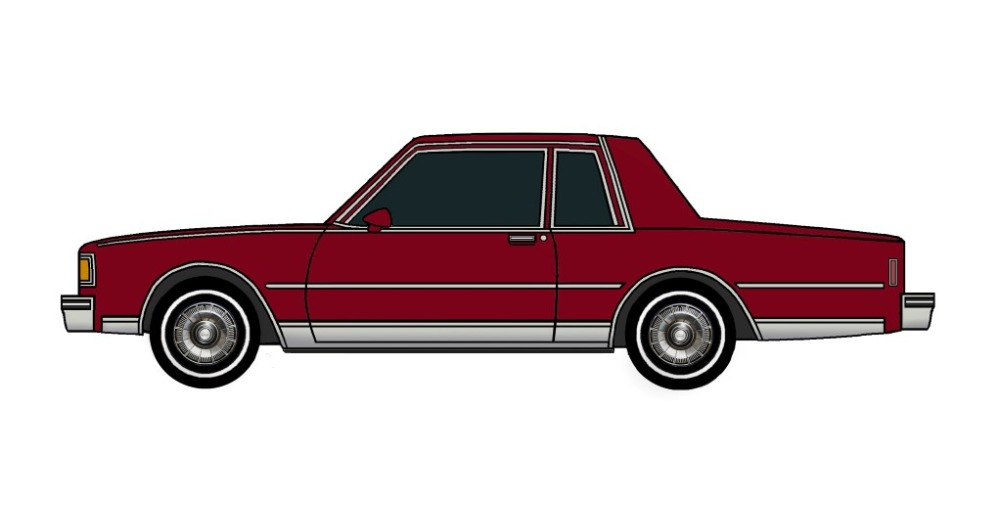 1985 Chevy Caprice Coupe BURGUNDY