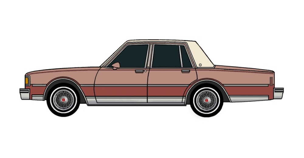 1983 Pontiac Parisienne CLAY ROSE & CHERRY RED