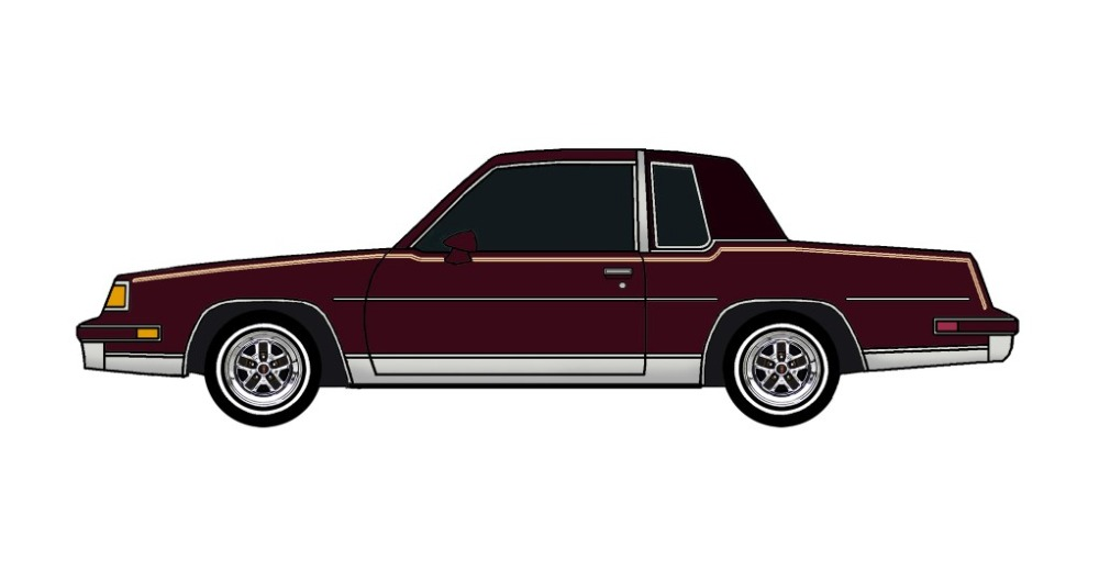 1987 Oldsmobile Cutlass MAROON