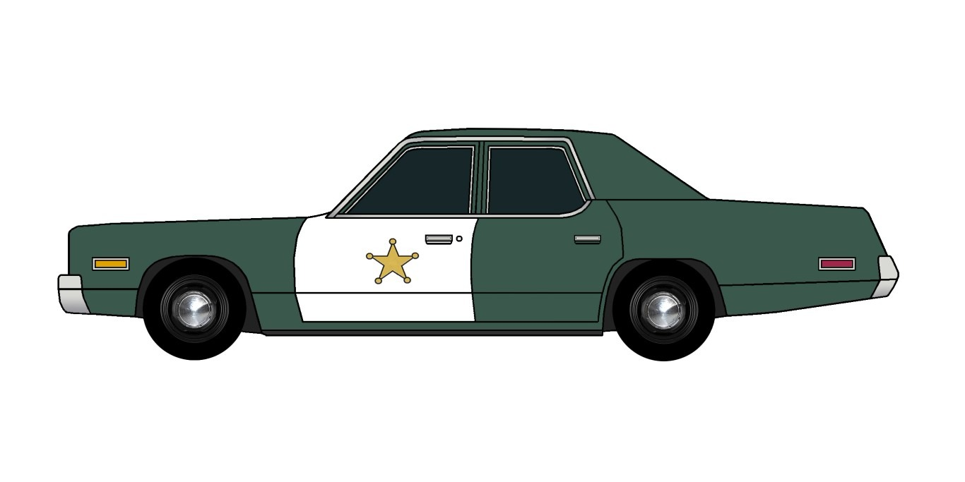 1974 Dodge Monaco Police HUNTER GREEN