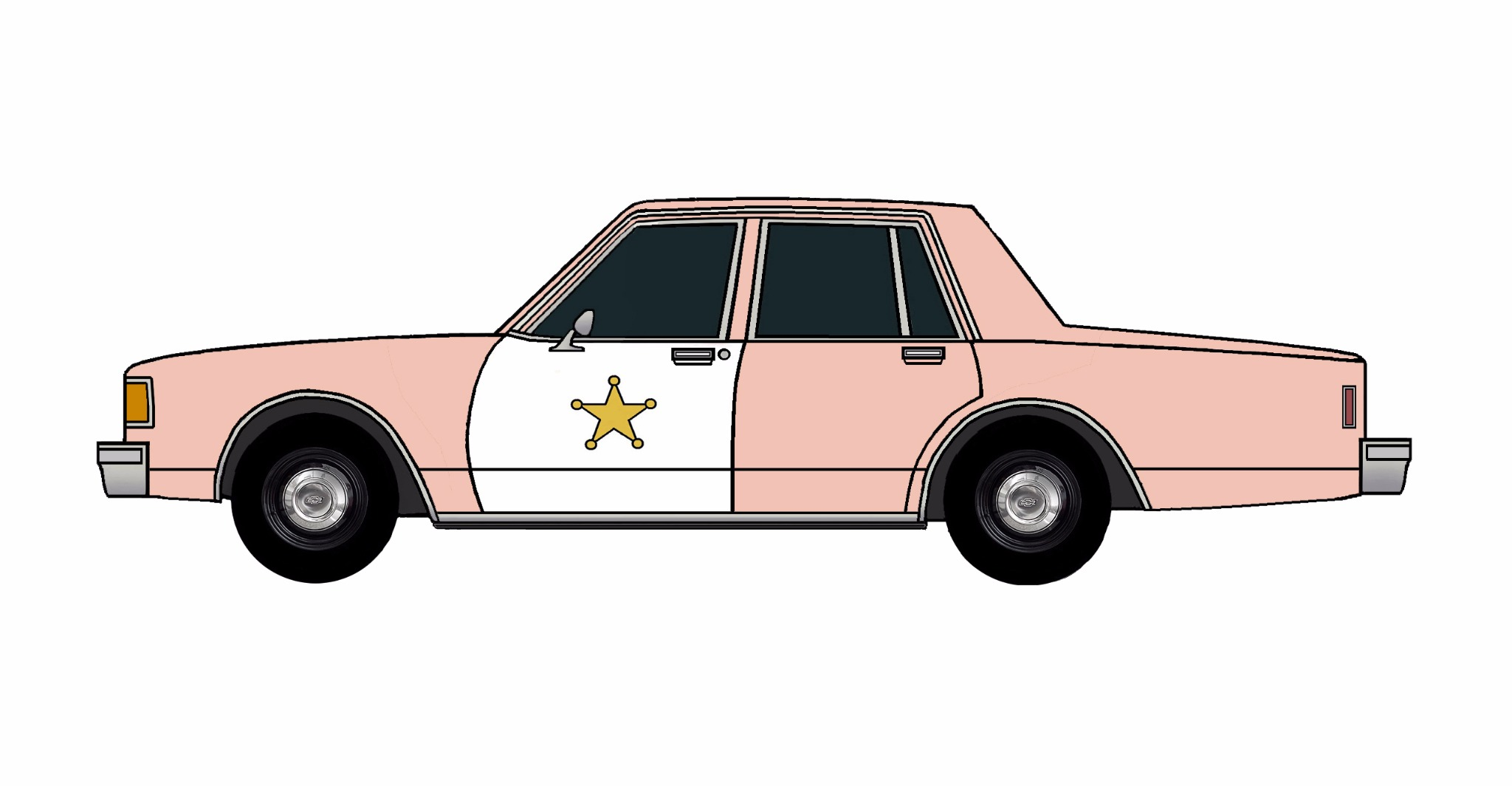 1986 Chevy Caprice 9C1 ROSE PINK