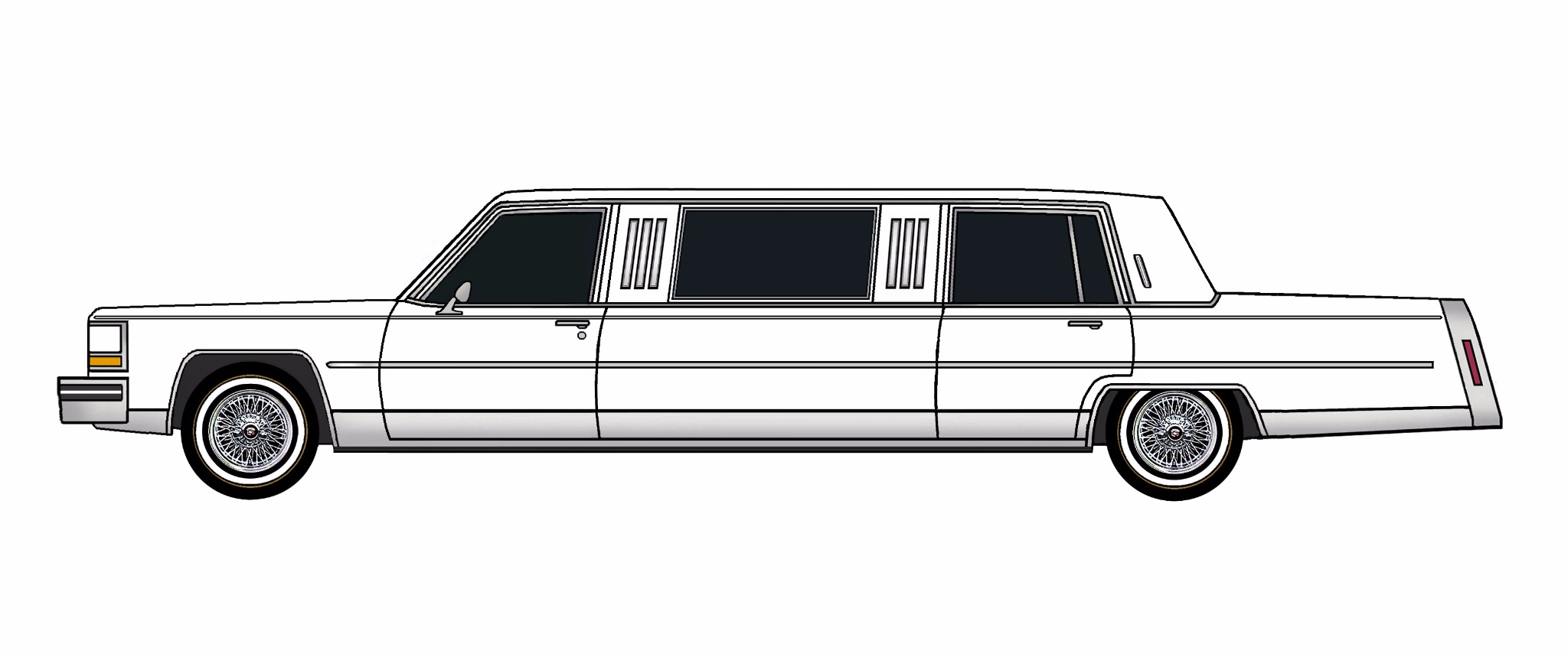 1984 Cadillac Fleetwood Brougham Limo WHITE