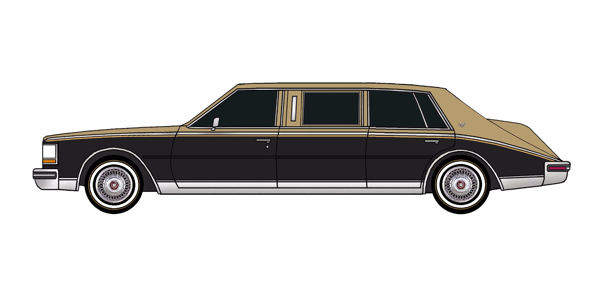 1980 Cadillac Seville Limo BRONZE & BLACK