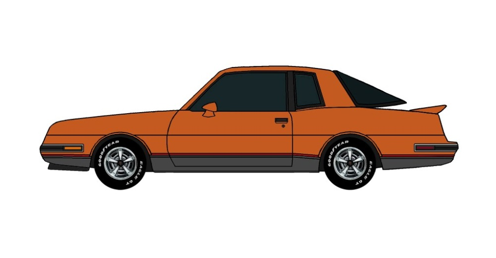 1986 Pontiac Grand Prix 2+2 MANDARIN ORANGE