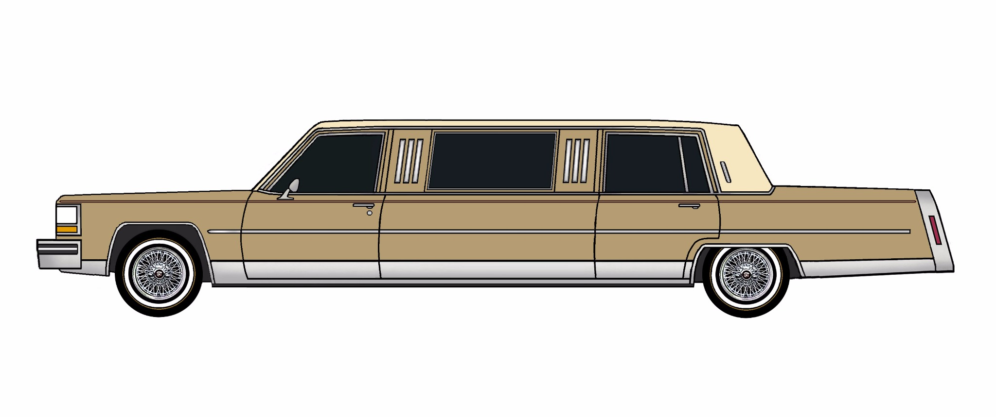 1984 Cadillac Fleetwood Brougham Limo BRONZE