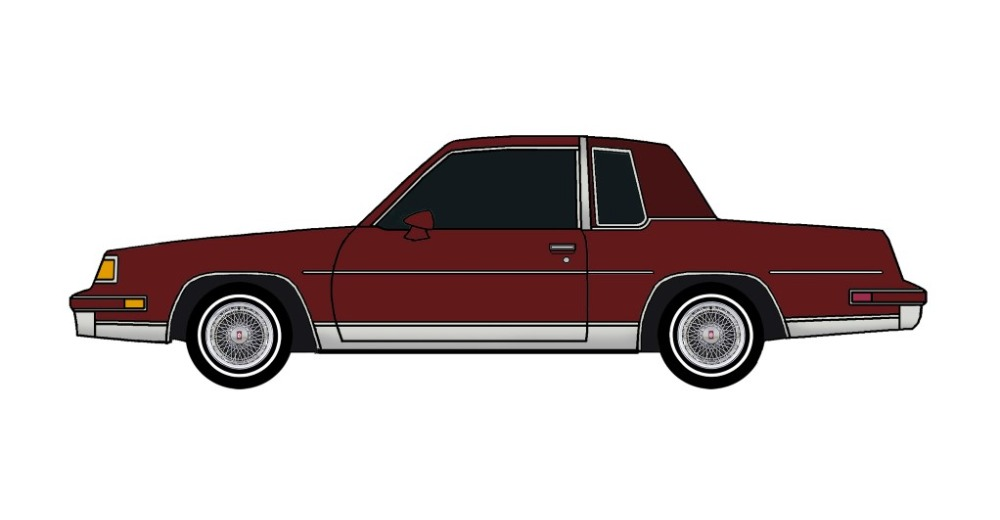 1987 Oldsmobile Cutlass TUSCAN RED