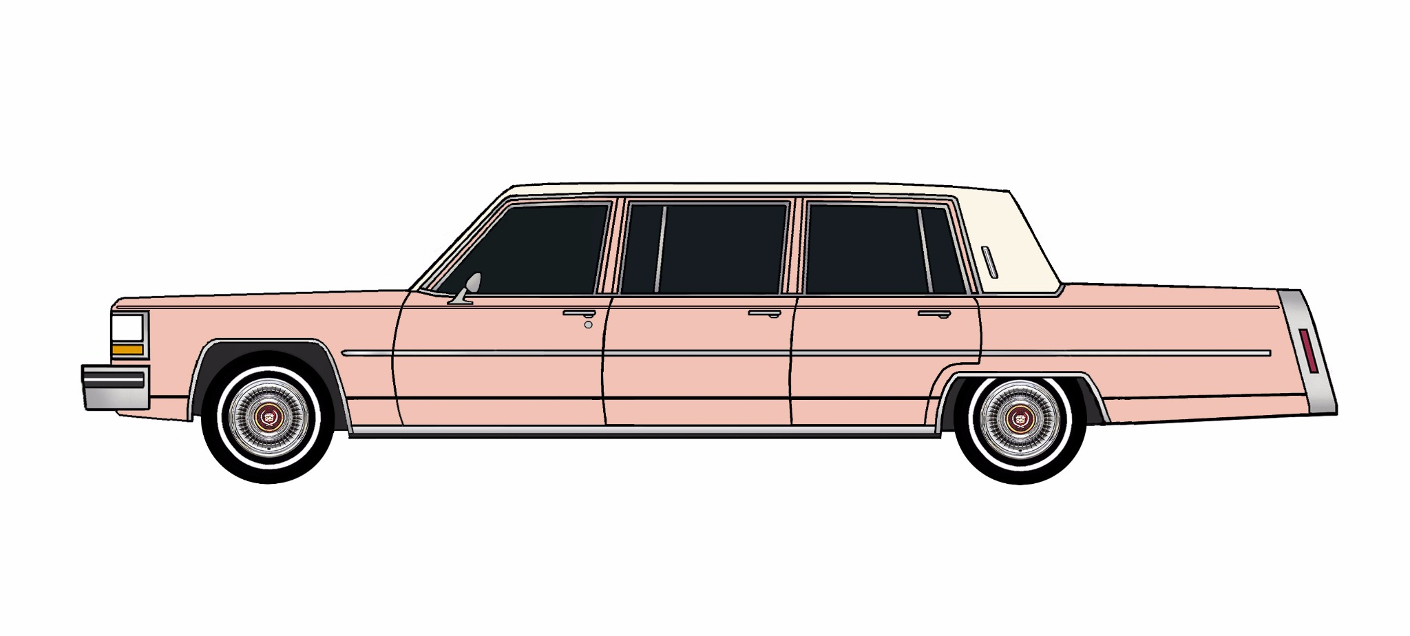 1981 Cadillac Fleetwood Funeral Limo ROSE PINK