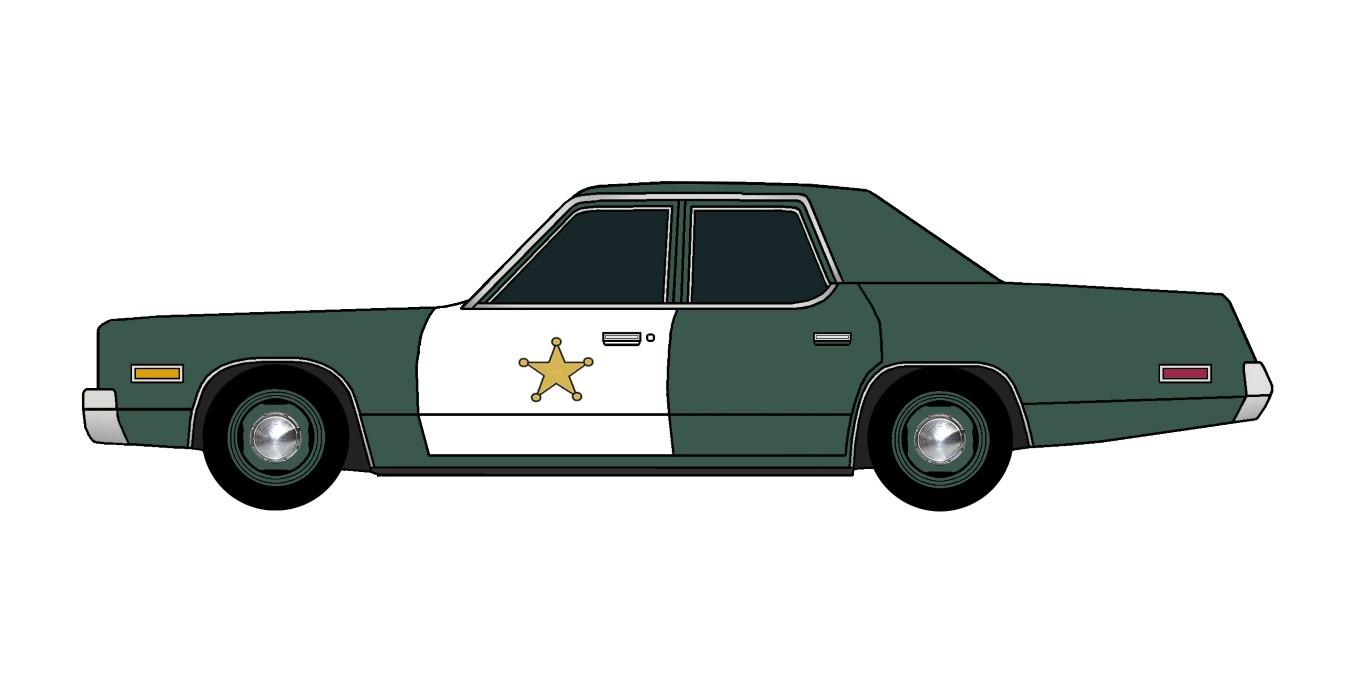 1974 Plymouth Fury Police HUNTER GREEN