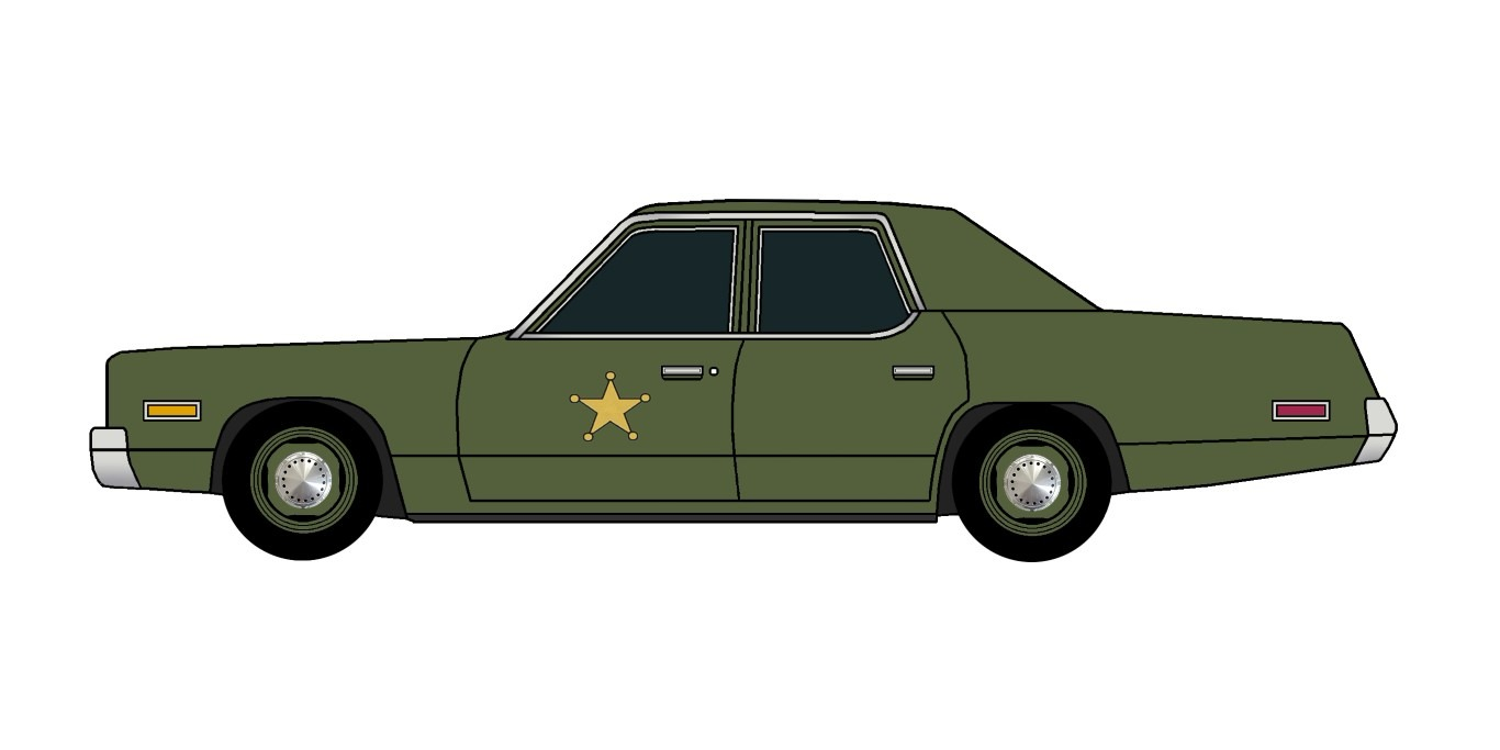 1975 Dodge Monaco Police ARMY GREEN