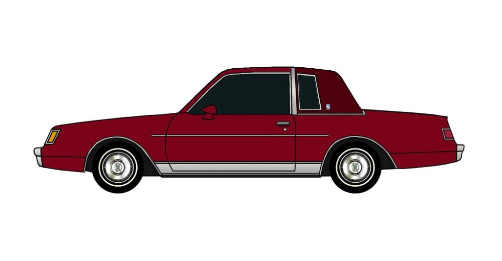1982 Buick Regal BURGUNDY