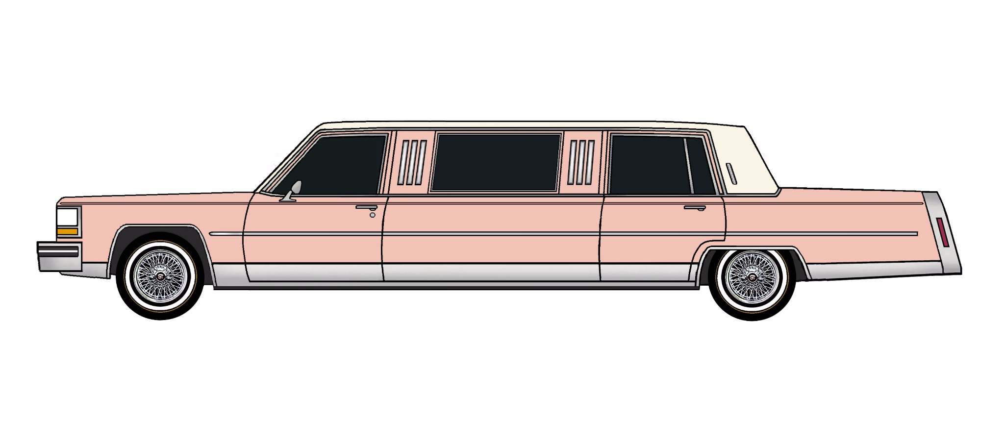 1984 Cadillac Fleetwood Brougham Limo ROSE PINK