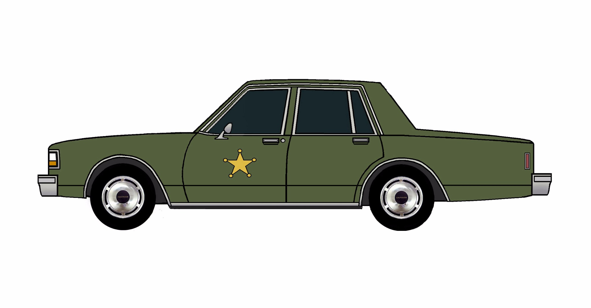 1987 Chevy Caprice 9C1 ARMY GREEN