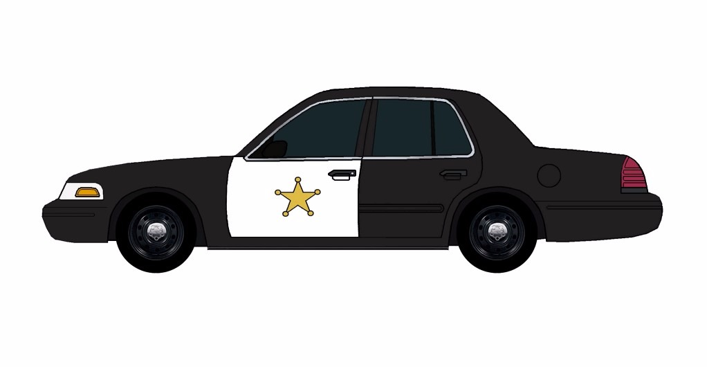 2011 Ford Crown Victoria Police Car BLACK