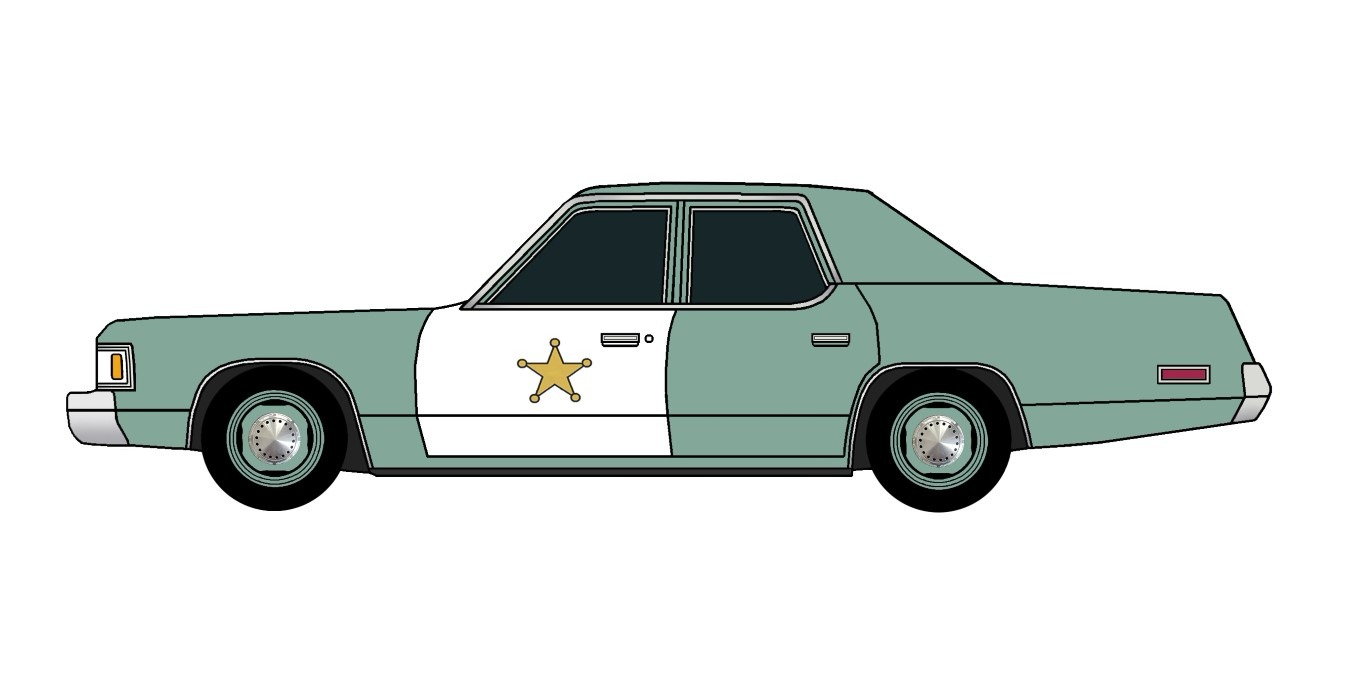 1976 Dodge Royal Monaco Police DARK JADESTONE