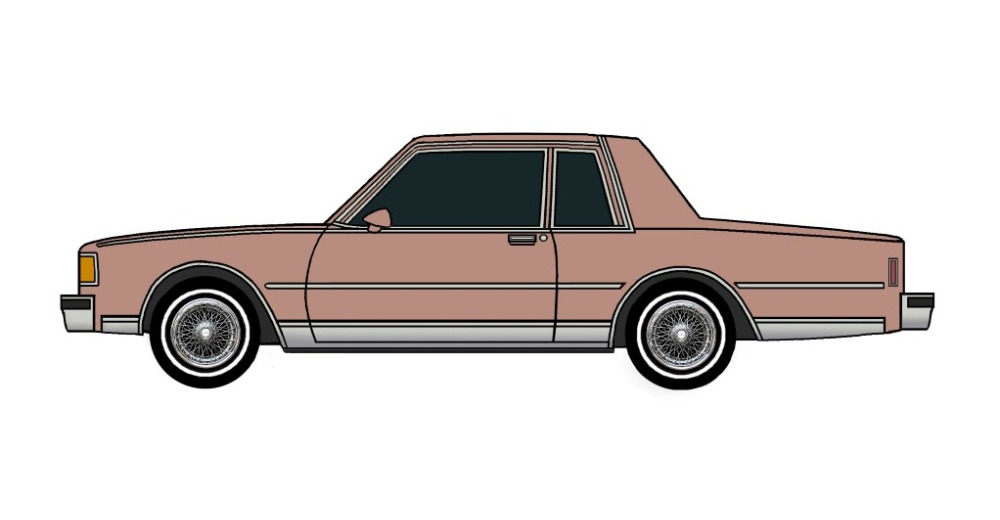 1986 Chevy Caprice Coupe CLAY ROSE
