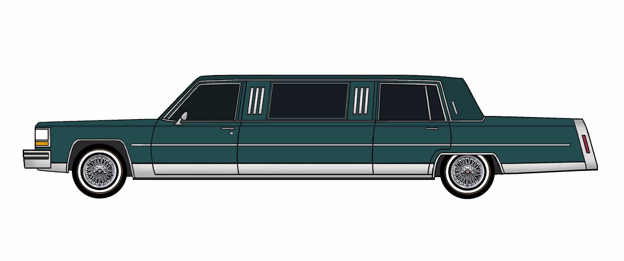 1984 Cadillac Fleetwood Brougham Limo TEAL