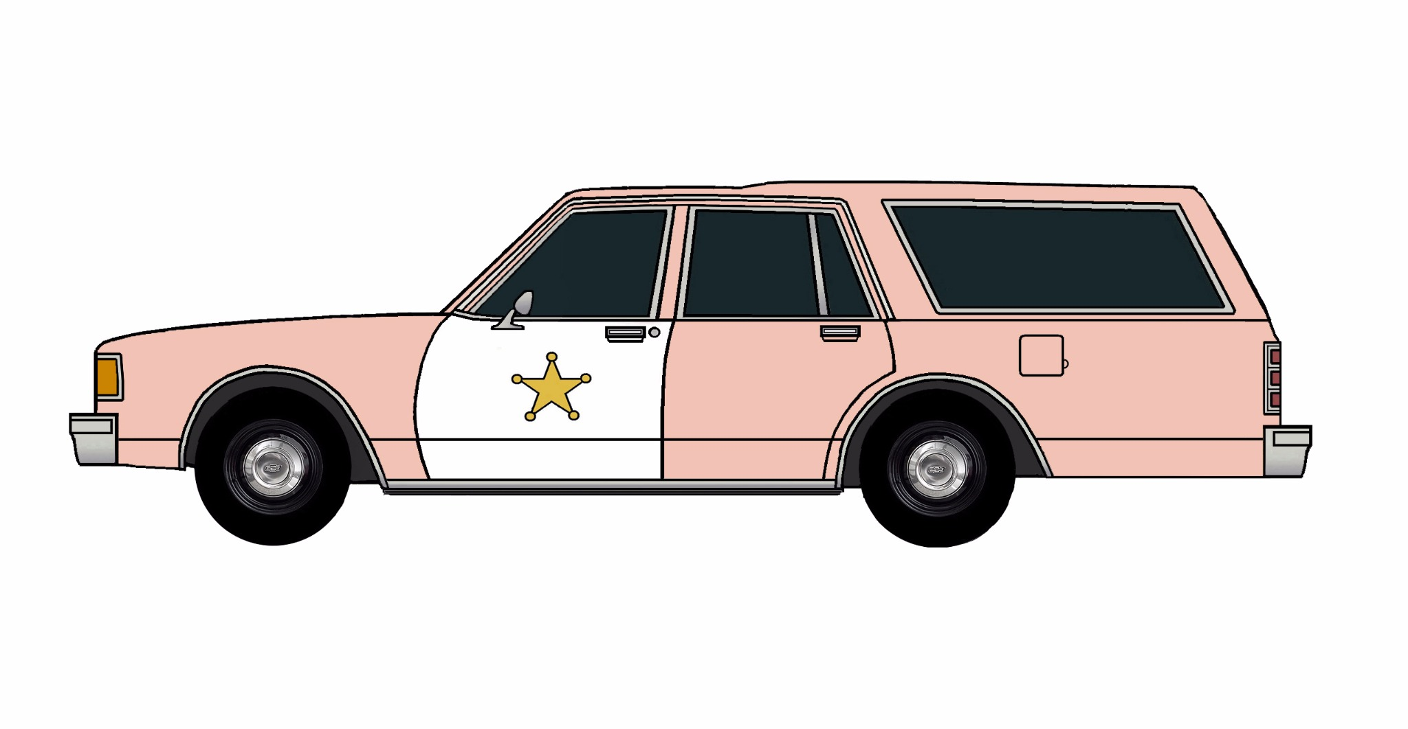 1986 Chevy Caprice 9C1 Wagon ROSE PINK