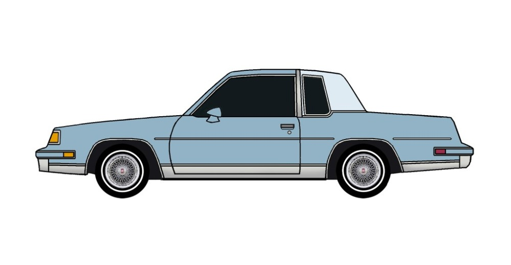 1987 Oldsmobile Cutlass LIGHT BLUE