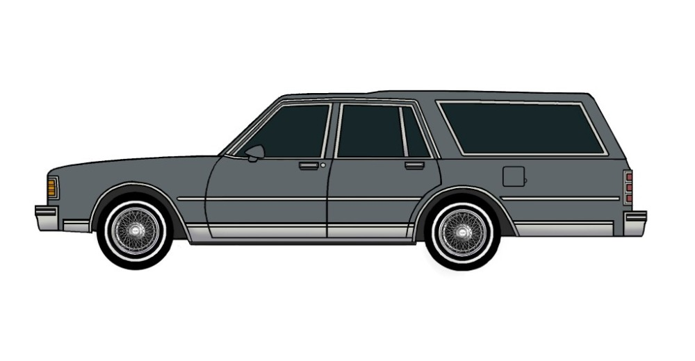 1980 Chevy Caprice Wagon CHARCOAL