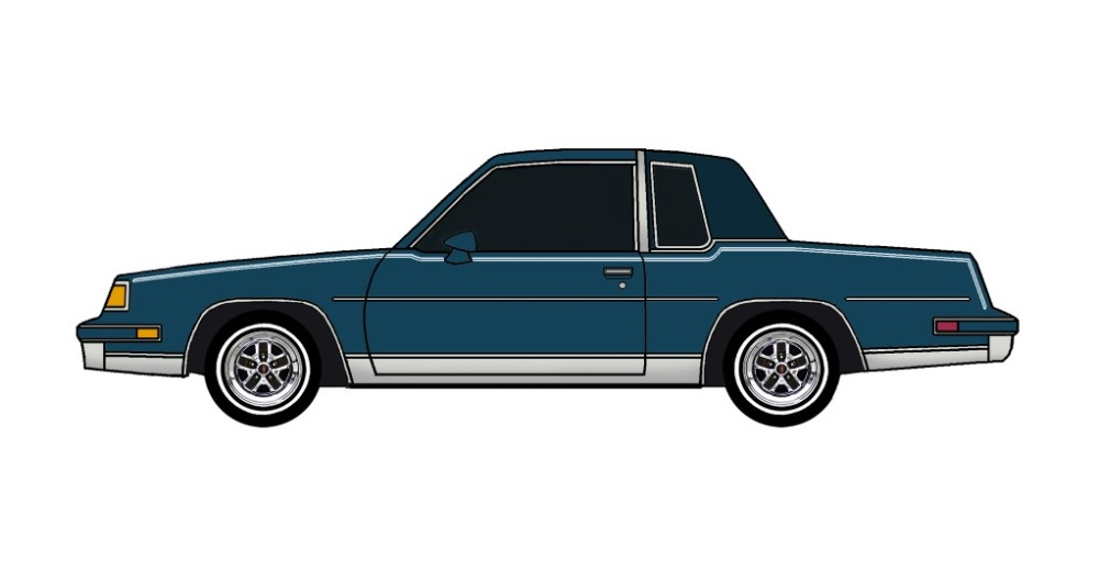 1987 Oldsmobile Cutlass MIDNIGHT BLUE