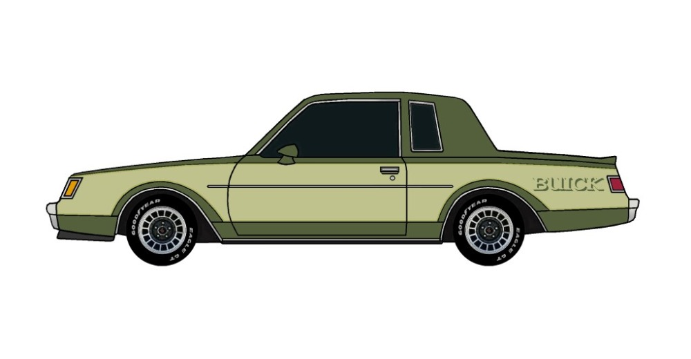 1982 Buick Grand National ARMY GREEN & OLIVE GREEN
