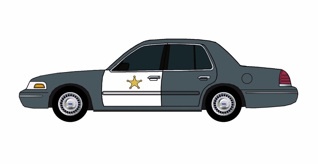 1998 Ford Crown Victoria Police Car CHARCOAL