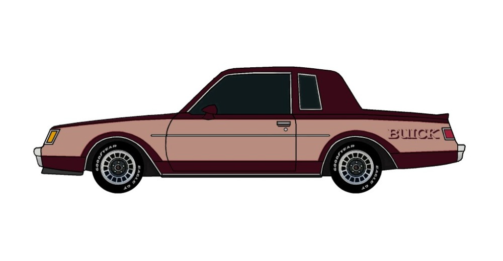1982 Buick Grand National MAROON & CLAY ROSE
