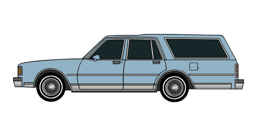 1980 Chevy Caprice Wagon LIGHT BLUE