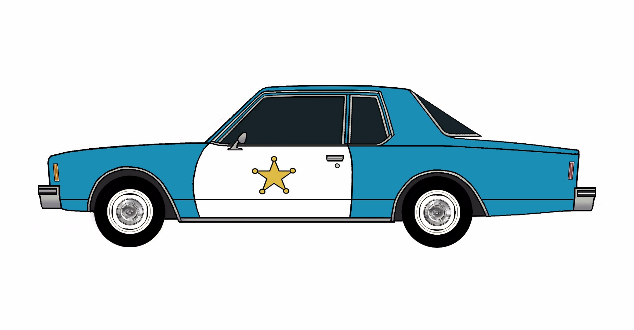 1977 Chevy Impala Police Coupe SEA BLUE