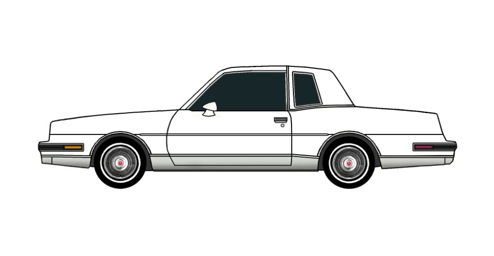 1986 Pontiac Grand Prix WHITE