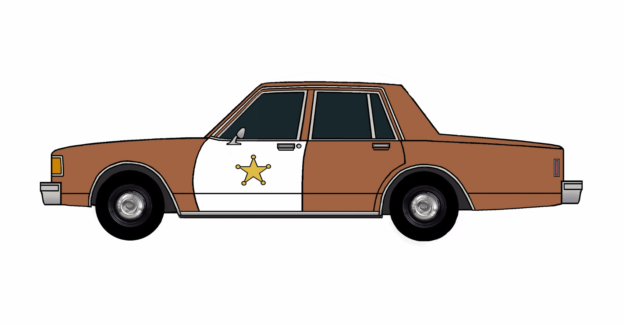 1986 Chevy Caprice 9C1 SIENNA BROWN