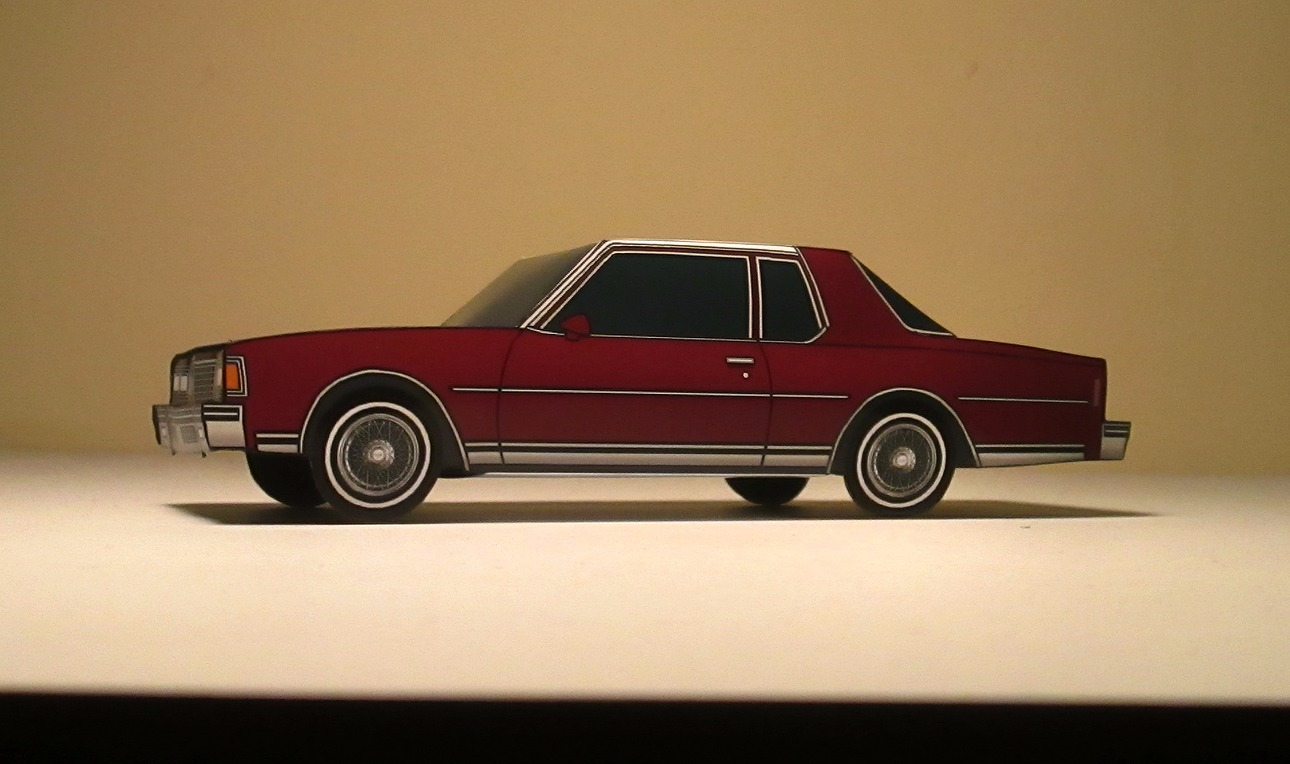 1978 Chevy Caprice Coupe WHITE