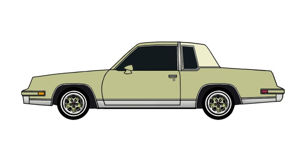 1986 Oldsmobile Cutlass OLIVE GREEN