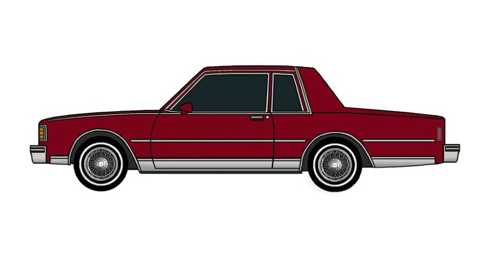 1980 Chevy Caprice Coupe BURGUNDY