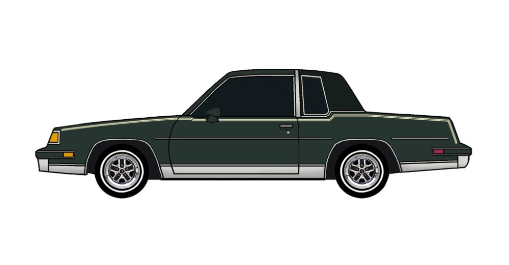 1987 Oldsmobile Cutlass DARK EVERGREEN