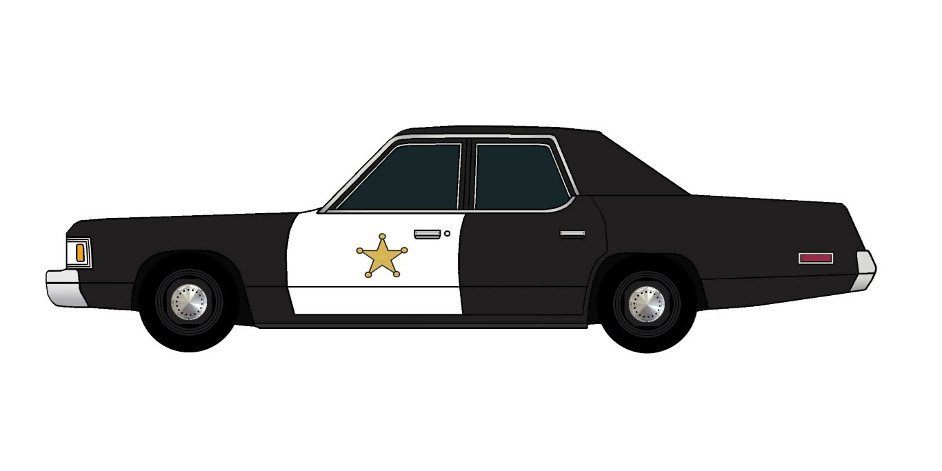 1976 Dodge Royal Monaco Police BLACK