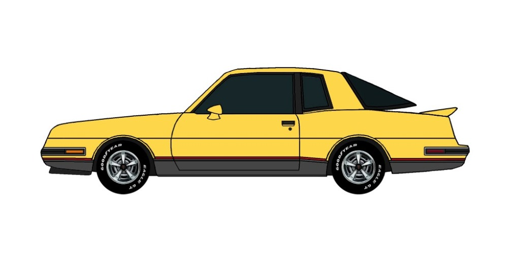 1986 Pontiac Grand Prix 2+2 CANARY YELLOW