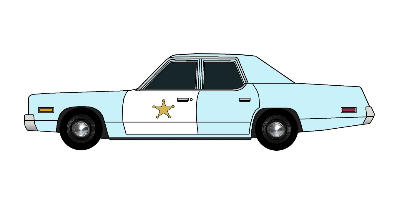 1974 Dodge Monaco Police PALE BLUE
