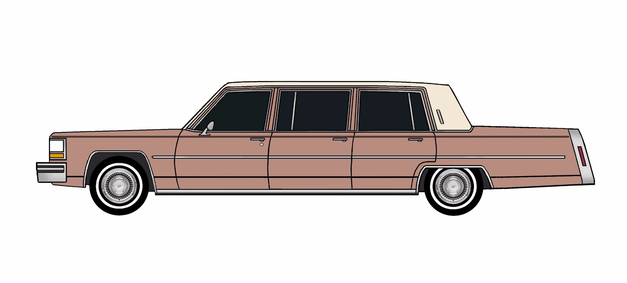 1980 Cadillac Fleetwood Funeral Limo CLAY ROSE