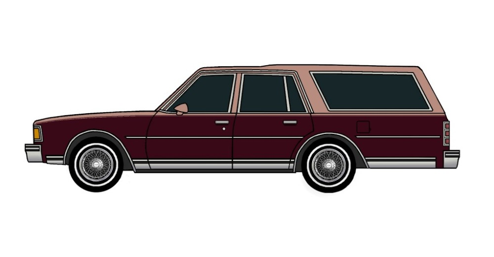 1978 Chevy Caprice Wagon CLAY ROSE & MAROON